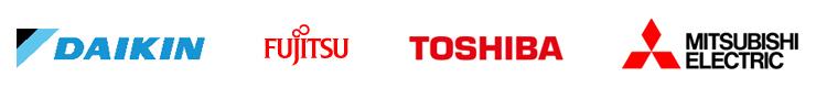 Kylmannin suosittelemat laitevalmistajat: Daikin, Toshiba, Fujitsu & Mitsubishi