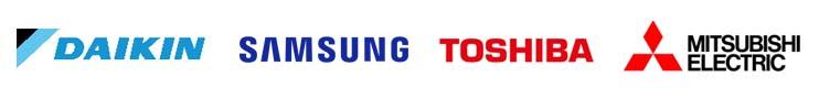 Kylmannin suosittelemat laitevalmistajat: Daikin, Samsung, Toshiba & Mitsubishi Electric
